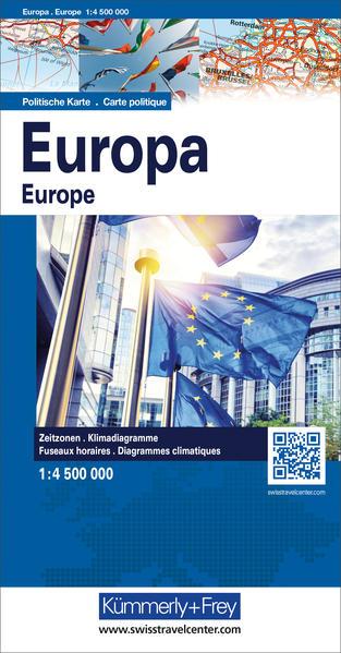 KuF Europa, politische Karte 1 : 4.5 000 000 al...