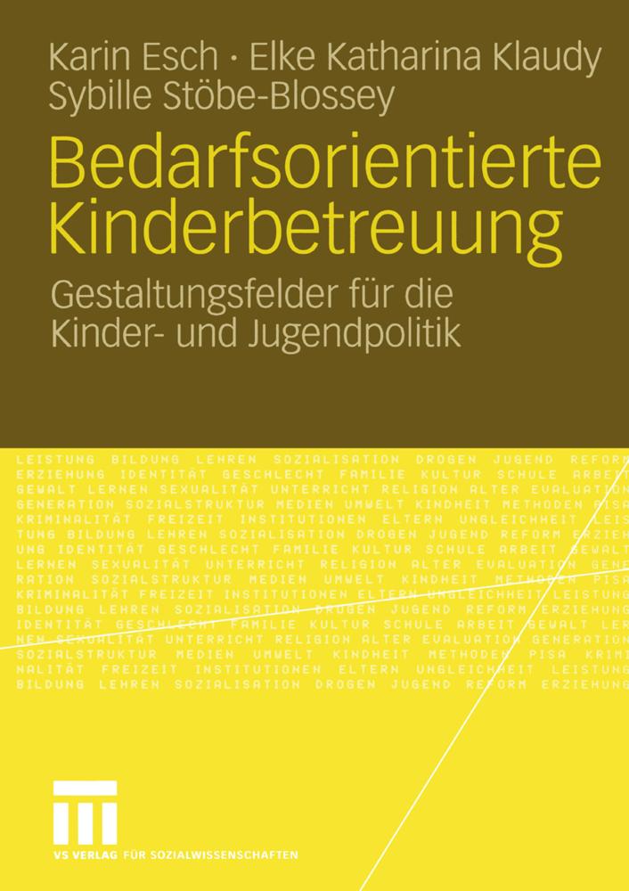 Bedarfsorientierte Kinderbetreuung als Buch von...