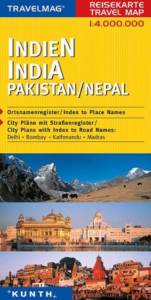 KUNTH Reisekarte Indien - Pakistan - Nepal 1 : ...