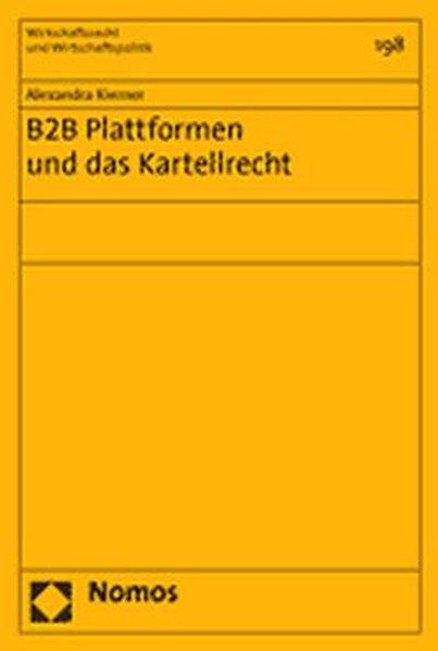 B2B Plattformen und das Kartellrecht als Buch v...