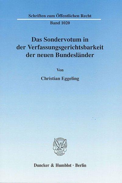 Das Sondervotum in der Verfassungsgerichtsbarke...