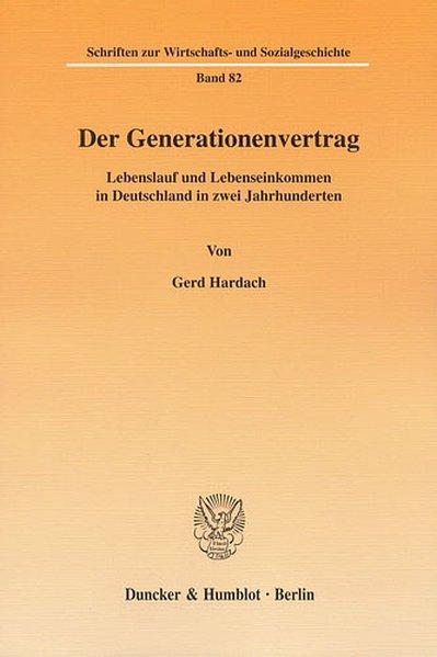 Der Generationenvertrag als Buch von Gerd Hardach