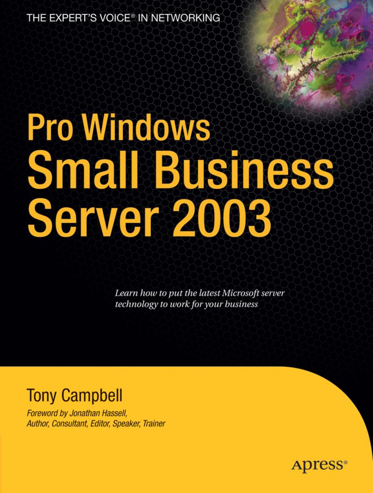 Pro Windows Small Business Server 2003 als Buch...