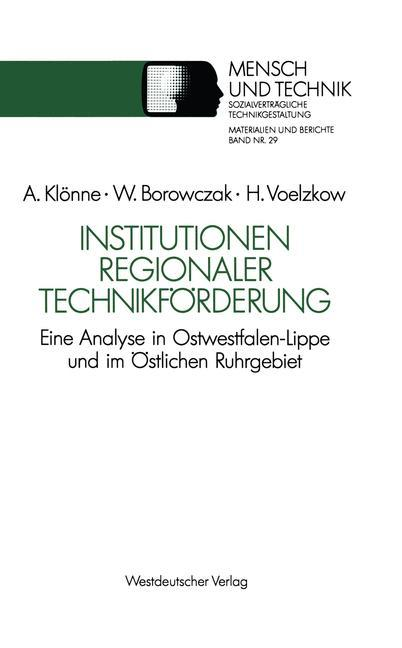 Institutionen regionaler Technikförderung als B...