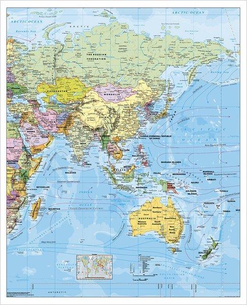 Asien politisch. Wandkarte als Buch von