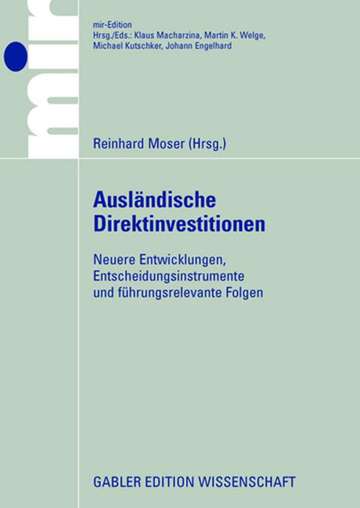 Ausländische Direktinvestitionen als Buch von