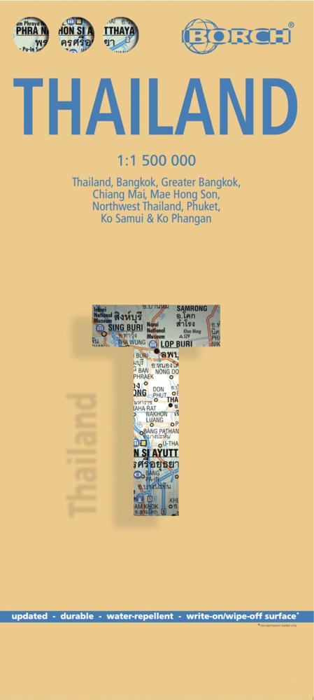 Thailand 1 : 1 500 000. Road Map + City Maps al...