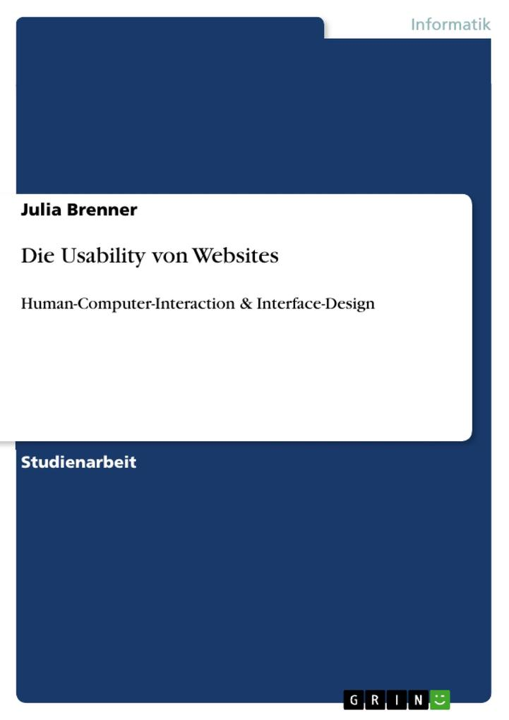 Die Usability von Websites als Buch von Julia B...