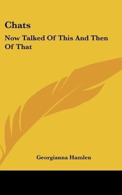 Chats als Buch von Georgianna Hamlen