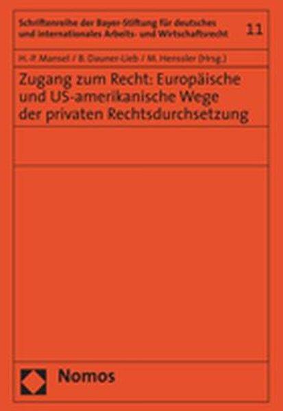 Zugang zum Recht: Europäische und US-amerikanis...
