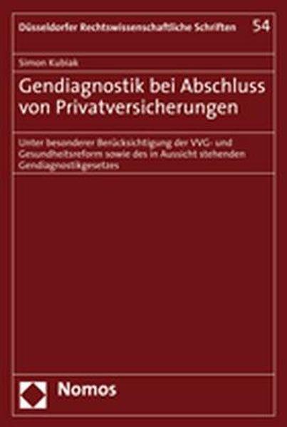 Gendiagnostik bei Abschluss von Privatversicher...