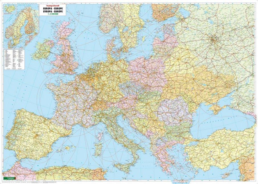 Europa politisch 1 : 3 500 000 Planokarte als B...