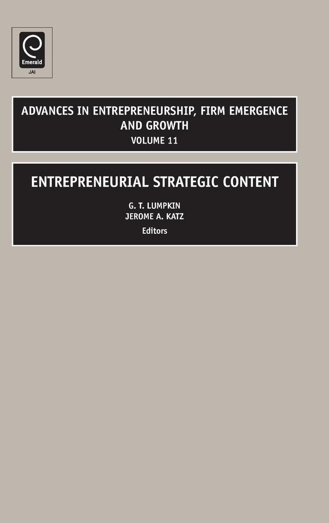 Entrepreneurial Strategic Content als Buch von