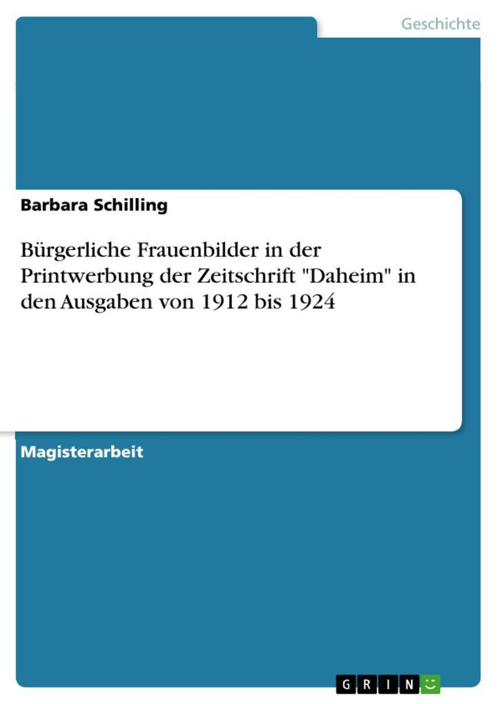 Bürgerliche Frauenbilder in der Printwerbung de...