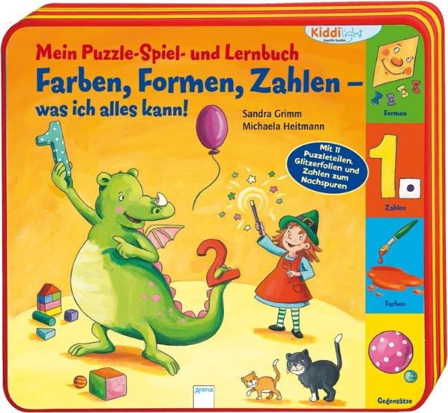 Mein Puzzle- Spiel- und Lernbuch: Farben, Forme...