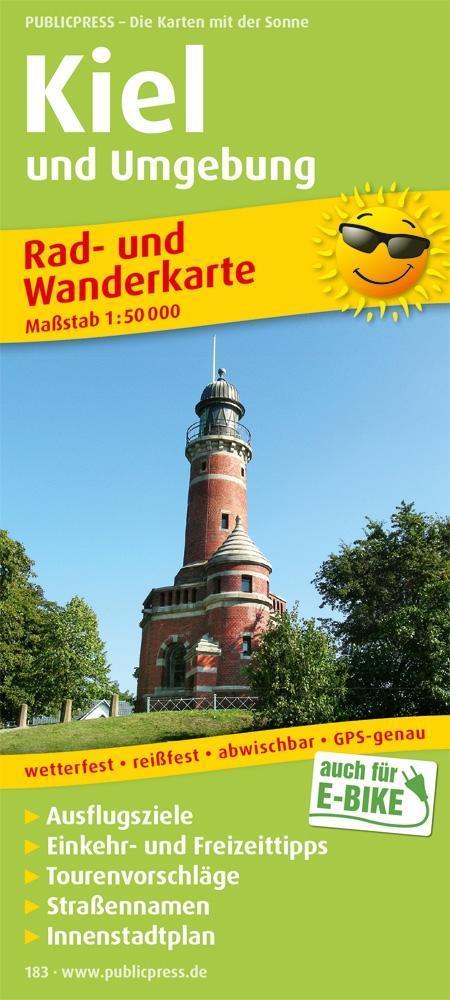 Rad- und Wanderkarte Kiel und Umgebung 1 : 50 0...