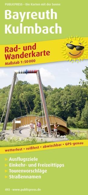 Rad- und Wanderkarte Bayreuth - Kulmbach 1 : 50...