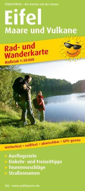 Rad- und Wanderkarte Eifel, Maare und Vulkane 1...