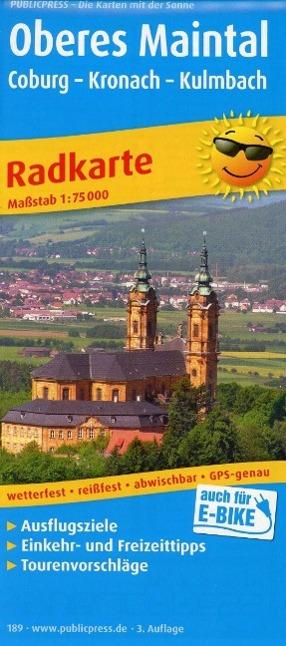 Radwanderkarte Oberes Maintal /Coburg - Kronach...