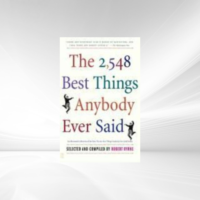 The 2,548 Best Things Anybody Ever Said als eBo...