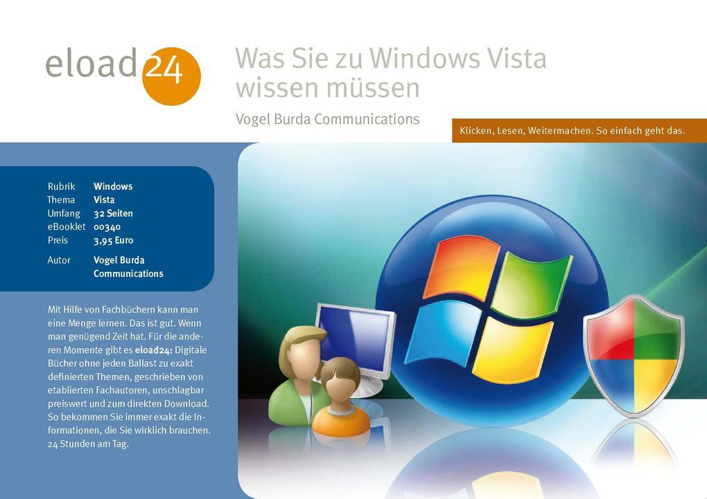 Was Sie zu Windows Vista wissen müssen als eBoo...
