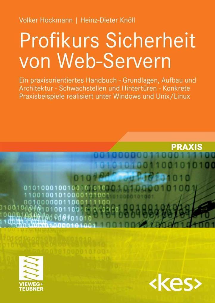 Profikurs Sicherheit von Web-Servern als eBook ...