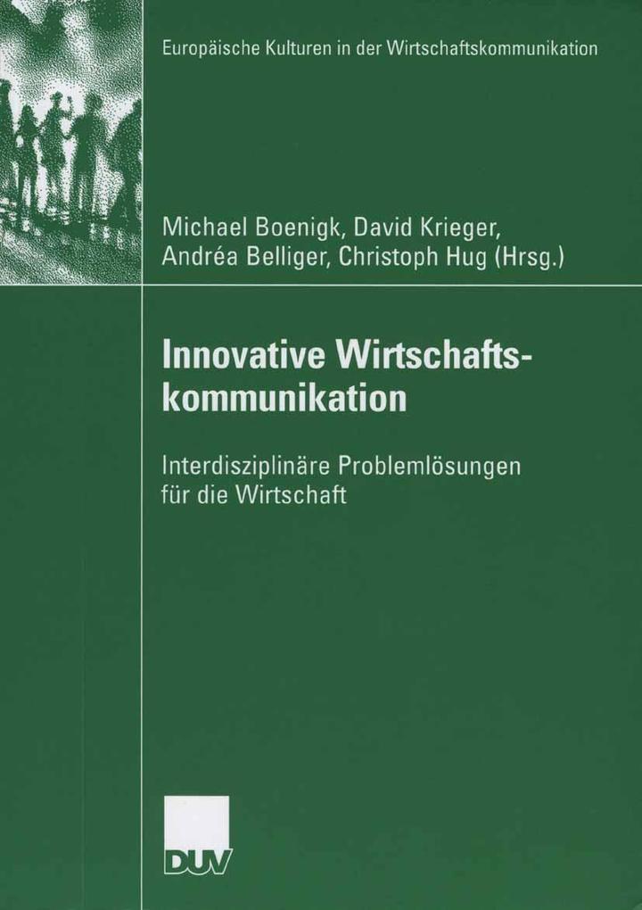 Innovative Wirtschaftskommunikation als eBook D...