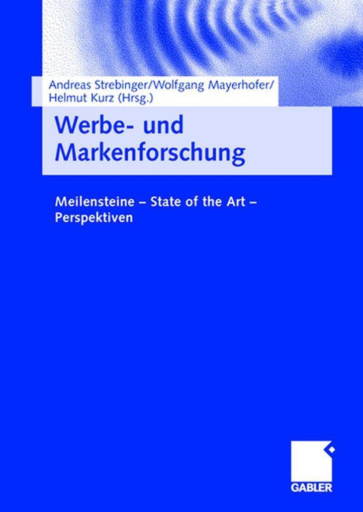 Werbe- und Markenforschung als eBook Download von