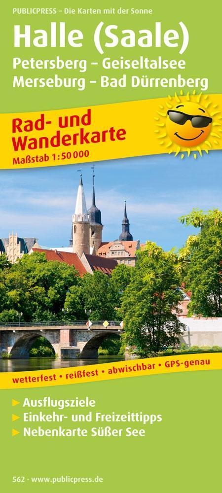 Rad- und Wanderkarte Halle (Saale) - Petersberg...
