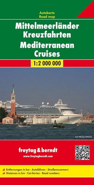 Mittelmeerländer Kreuzfahrten. Autokarte 1 : 2....