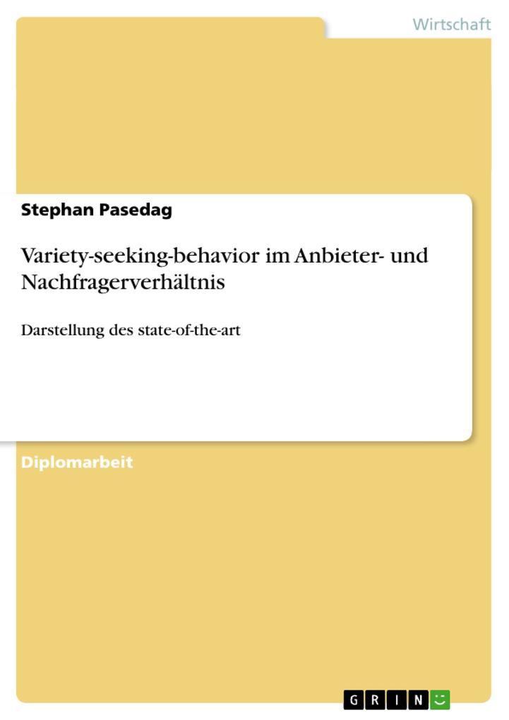 Variety-seeking-behavior im Anbieter- und Nachf...