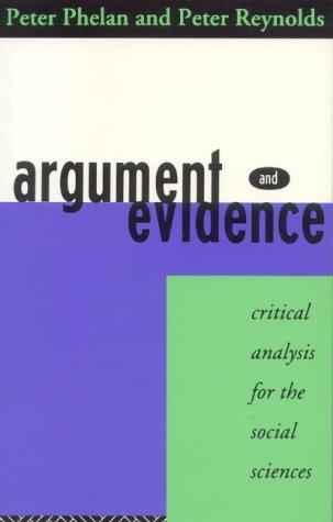 Argument and Evidence als Taschenbuch