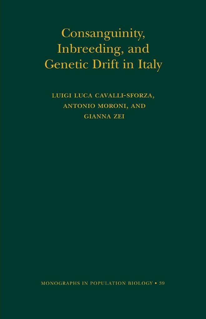 Consanguinity, Inbreeding, and Genetic Drift in Italy (Mpb-39) als Taschenbuch