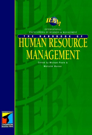 Iebm Handbook of Human Resource Management als Buch