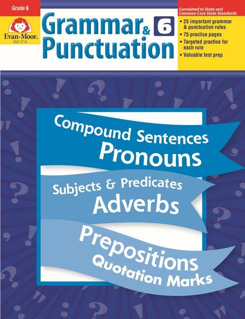 Grammar & Punctuation, Grade 6 als Taschenbuch