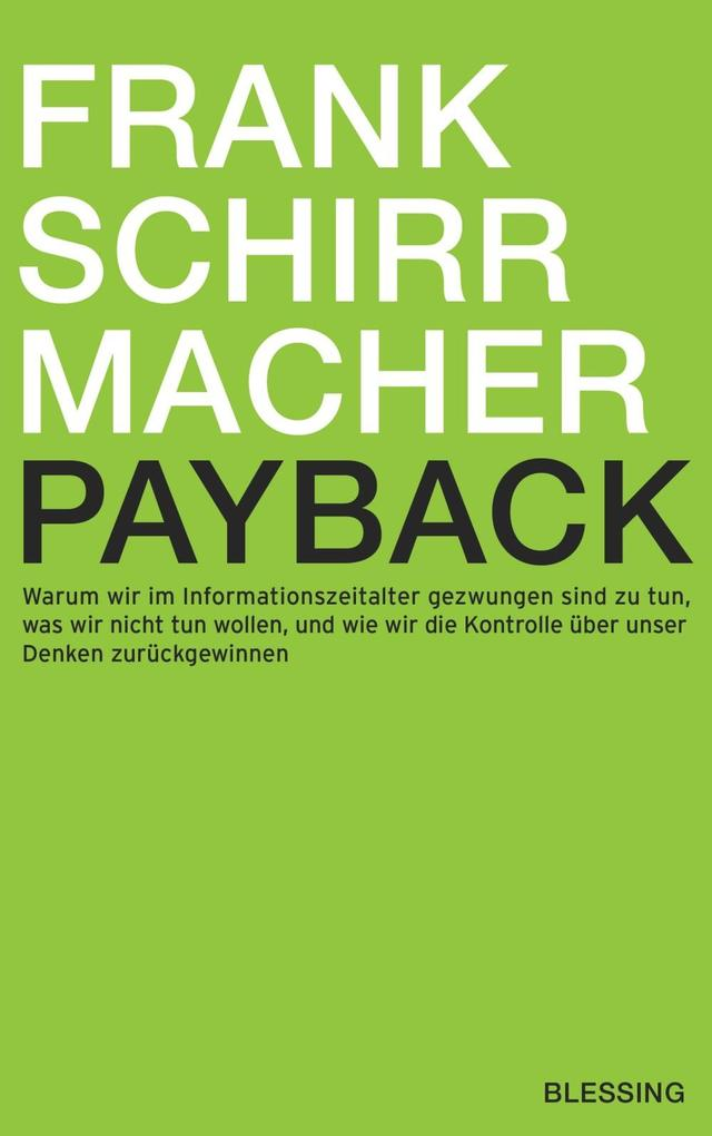Payback als eBook Download von Frank Schirrmacher