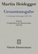 Gesamtausgabe Abt. 2 Vorlesungen Bd. 58. Grundprobleme der Phänomenologie