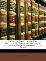 Leipziger Repertorium Der Deutschen Und Ausländ...