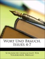 Wort und Brauch, Vierter Heft als Taschenbuch v...