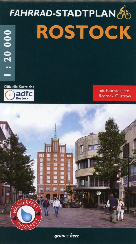 Rostock Fahrrad-Stadtplan als Buch von