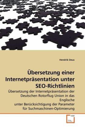Übersetzung einer Internetpräsentation unter SE...