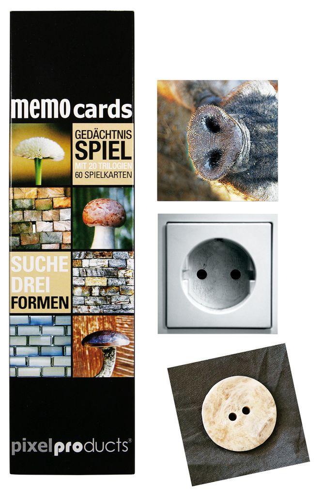 60 Spielkarten Liebsch Kartenspiel Suche Drei Formen Gedächnisspiel mit 20 Bild-Triologien