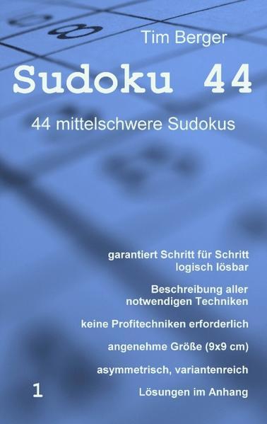 Sudoku 44 als Buch von Tim Berger