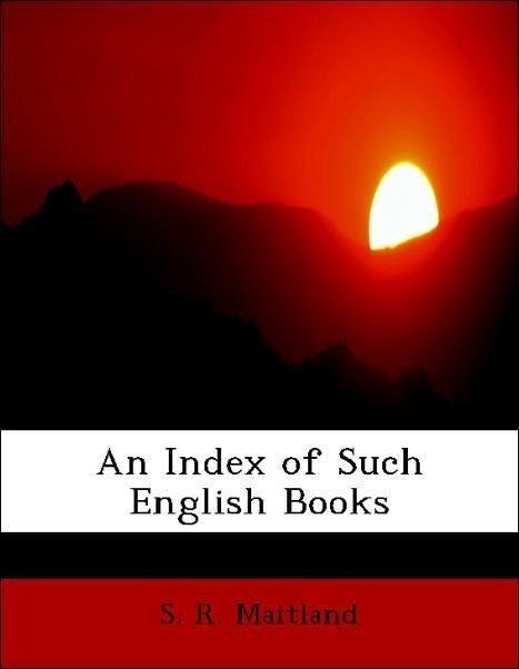An Index of Such English Books als Taschenbuch ...