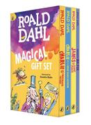 Roald Dahl Magical Gift Set (4 Books): Charlie and the Chocolate Factory, James and the Giant Peach, Fantastic Mr. Fox, Charlie and the Great Glass El