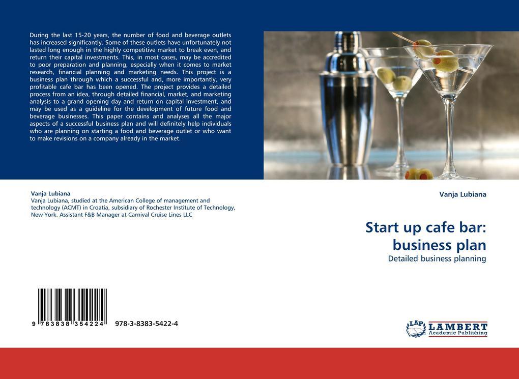 Start up cafe bar: business plan als Buch von V...