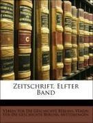 Zeitschrift, Elfter Band