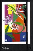 """Notizbuch liniert schwarz 16x24. Mit Bildabdruck von Matisse """"kreolische Tänzerin"""""""