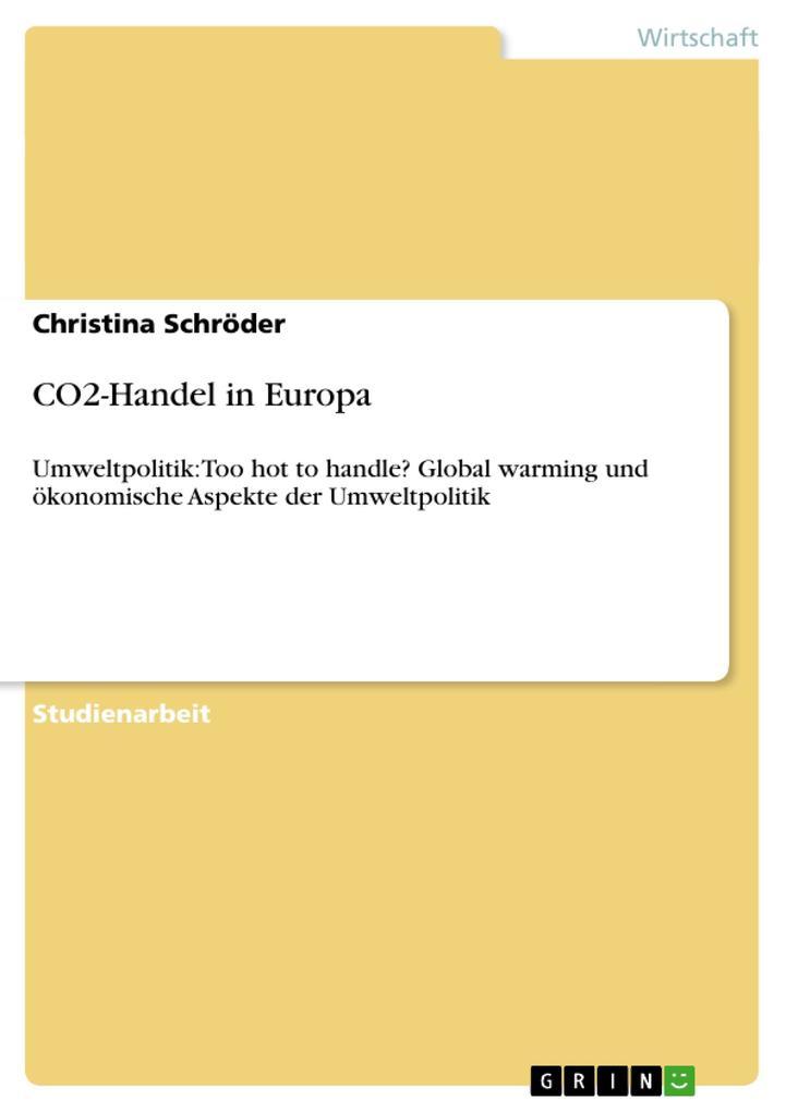 CO2-Handel in Europa als Buch von Christina Sch...