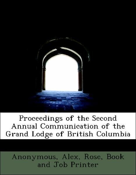 Proceedings of the Second Annual Communication ...
